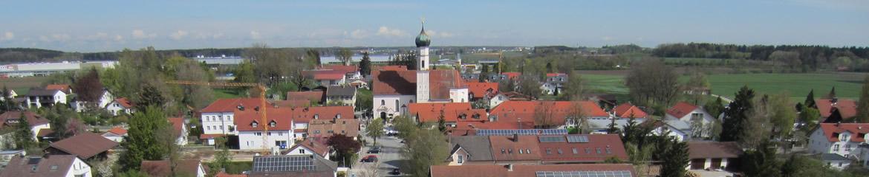 Luftbild der Gemeinde Anzing